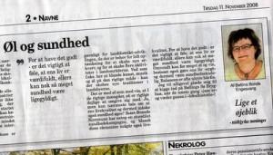 Avisartikel af Bettina Bonde fra Midtjyllands Avis